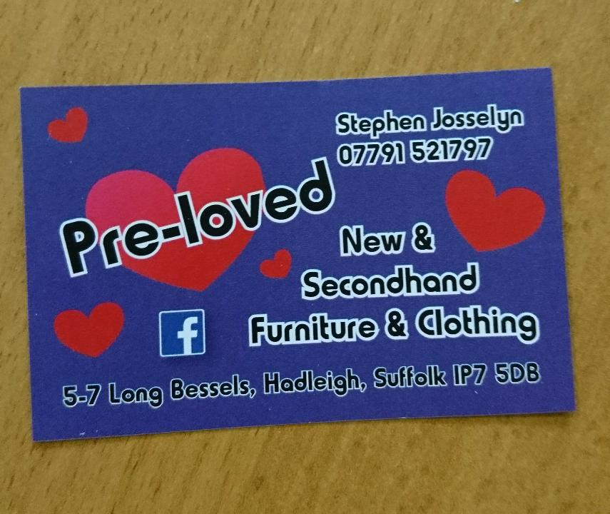 Preloved Business Cards - Printing for Pleasure